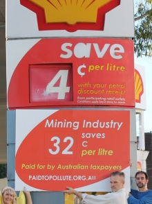 publicity photo demonstrating the 32 cent taxpayer funded subsidy for mining companies