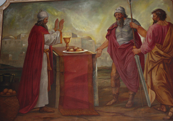 """abraham the king Melchizedek gave abraham bread and wine and then pronounced a  but  abram said to the king of sodom, """"i have raised my hand to the."""