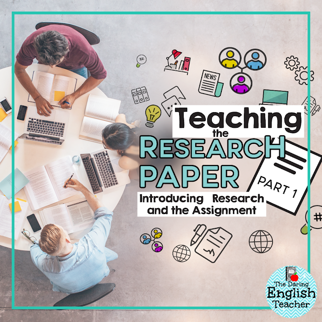 Important concepts and skills to teach middle school and high school students before assigning a research paper.
