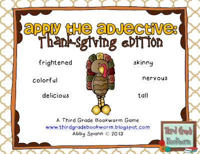 http://www.teacherspayteachers.com/Product/Apply-the-Adjective-Thanksgiving-Edition-968630