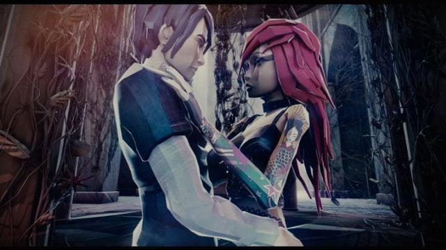 Avatares de Dominik e Sylwia no jogo.