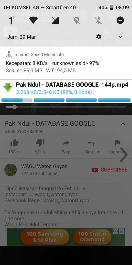 Cara Download Video Youtube di Android ke Galeri