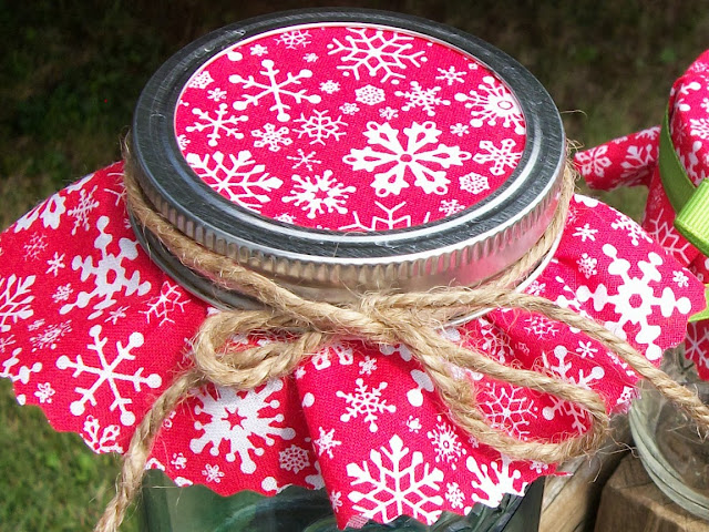 christmas jam jar covers