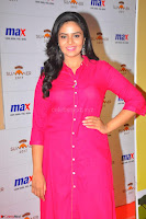 Sree Mukhi in Pink Kurti looks beautiful at Meet and Greet Session at Max Store (2).JPG