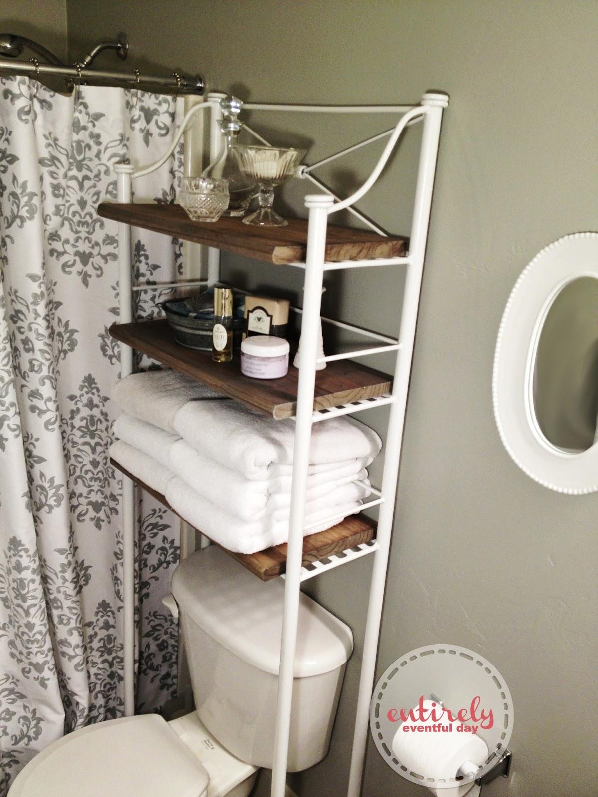 DIY Bathroom Shelf Make-over ~ Entirely Eventful Day