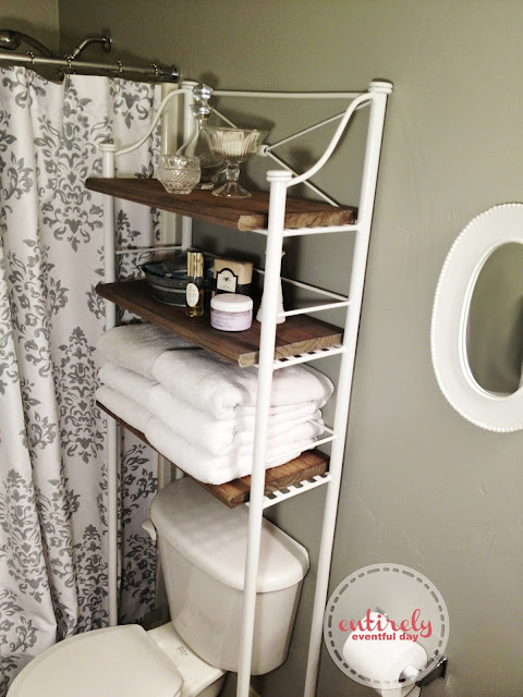 Diy Bathroom Shelf Make Over Entirely Eventful Day
