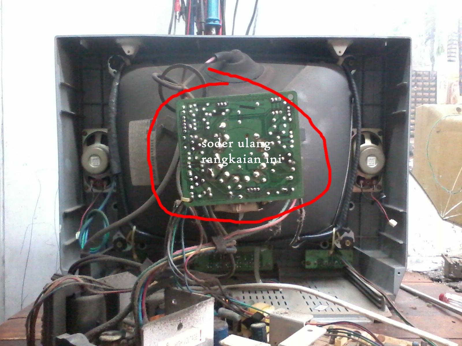 panasonic crt tv. solder ulang rangkaian r,g,b ini panasonic crt tv