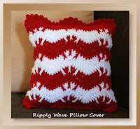 http://www.crochetmemories.com/blog/ripply-wave-pillow-cover-holiday-stashdown-cal-2016/