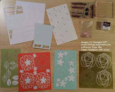 """The leftovers from Stampin'UP!'s Paper Pumpkin Craft kit for February 2016 """"Hello Sunshine"""""""