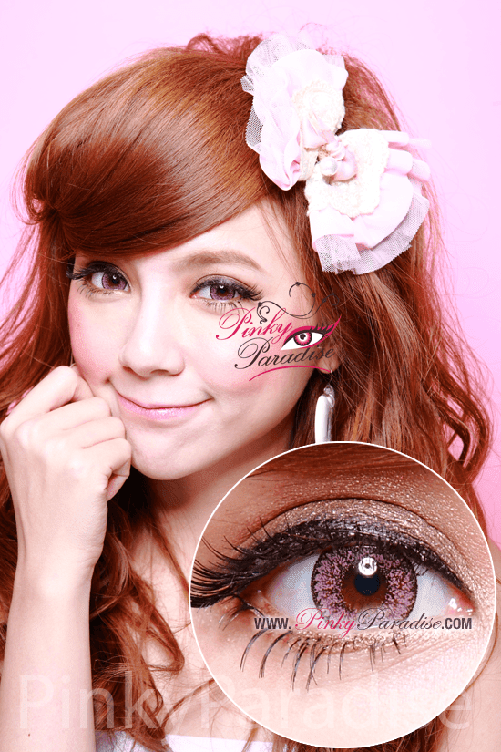 Geo Nudy Pink Circle Lenses (Colored Contacts)