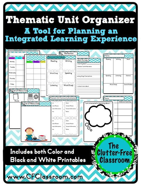 Tips For Planning An Integrated Teaching Unit CrossCurricular - Thematic lesson plan template
