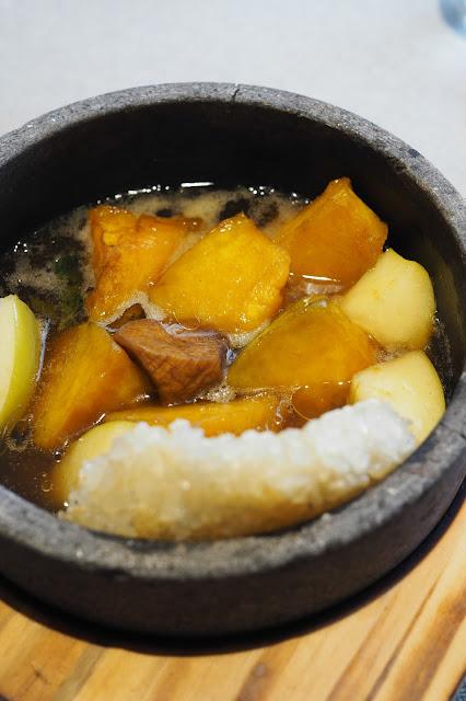 Braised pumpkin with glutinous rice
