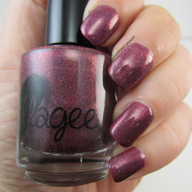 Burgundy holographic nail polish