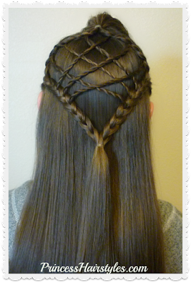 Braided dream catcher hair tutorial. Cute hairstyle for Easter.