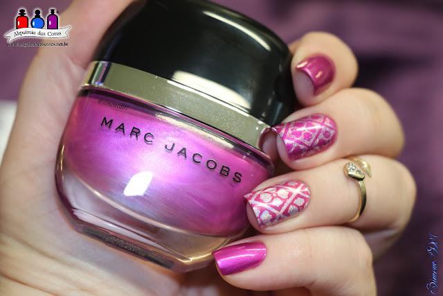 Marc Jacobs, Oui!, Urban Outfitters, Pink Holo, Outubro Rosa, Rosa, Pink, Holográfico, holographic, Carimbada, Nicole Diary, ND105, Alquimia das Cores, Mony D07, La Femme, Bordô,