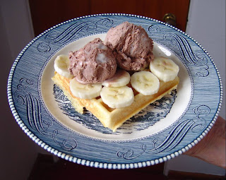 pancake mix waffle with ice cream and bananas.jpeg