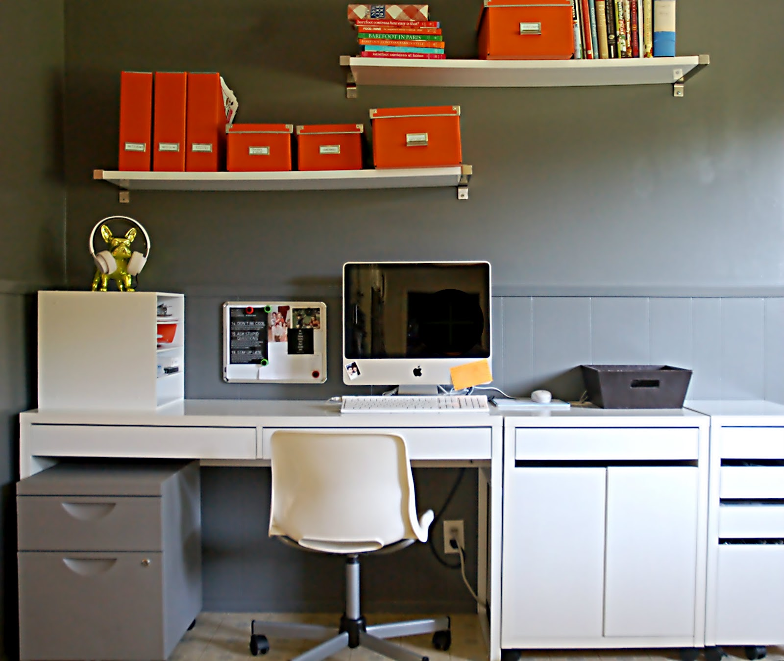 from my orange desk I Love an Organized Office