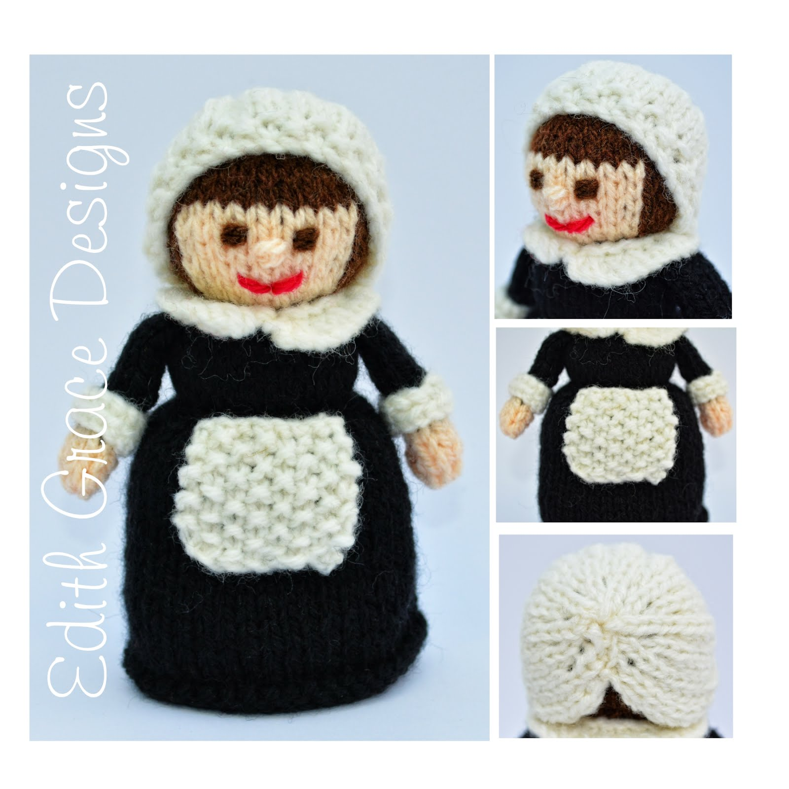 Edith Grace Designs: Violet 1921 - A Lady\'s Maid Doll Knitting Pattern