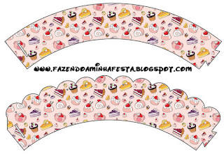 Cupcake Themed Party Free Printable Wrappers Cupcake.