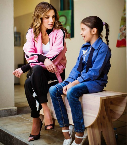 Queen Rania of Jordan visited the Queen Rania Family and Child Center in Jabal Al Naser in East Amman. Style of Queen Rania. Queen Rania's Closet