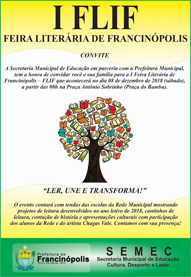 Francinópolis realiza Feira Literária neste sabado(08). Confira
