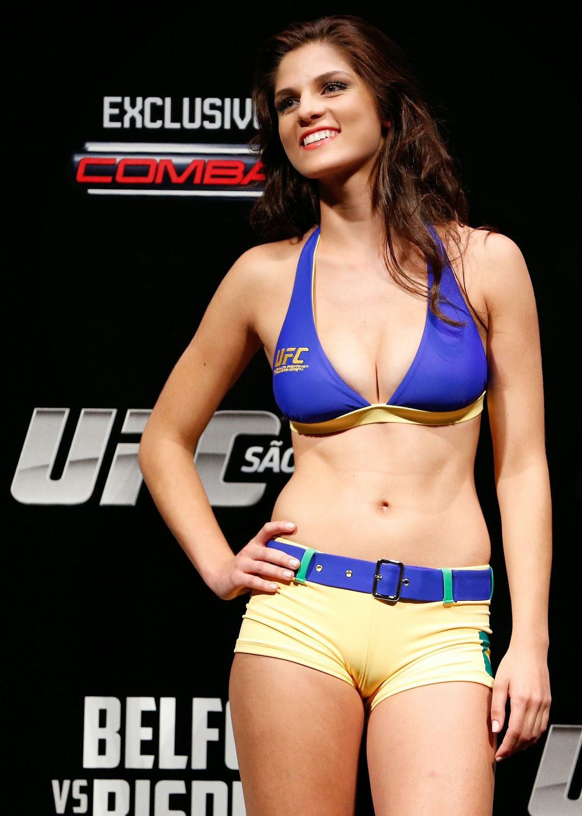 Excellent ufc ring girls apologise, but