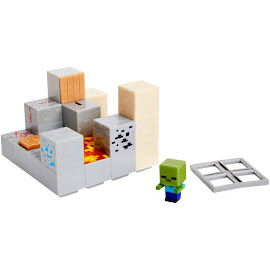 Minecraft Piston Push Mini Figures