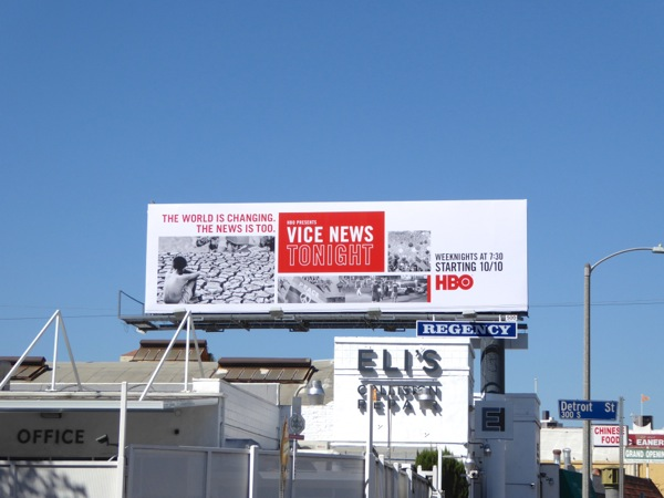 Vice News Tonight HBO series launch billboard