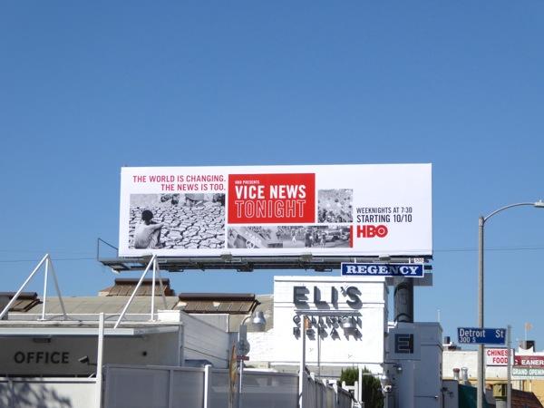 Vice News Tonight HBO series launch billboard