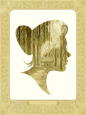 "Mondo Once Upon A Time Print Series - ""Snow White"" Gold Variant Screen Print by Kevin Tong"