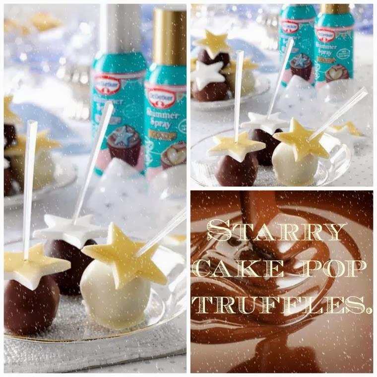 Starry Cake Pop Truffles: Homemade Christmas Treats