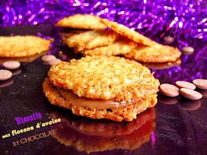 Biscuits de Noël aux flocons d'avoine et chocolat