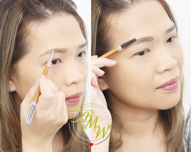a photo on how to apply Cathy Doll Sexy Eyebrow Pencil