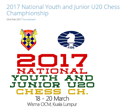 NATIONAL YOUTH and JUNIOR U20 CHESS CHAMPIONSHIP 2017 – Online Registration