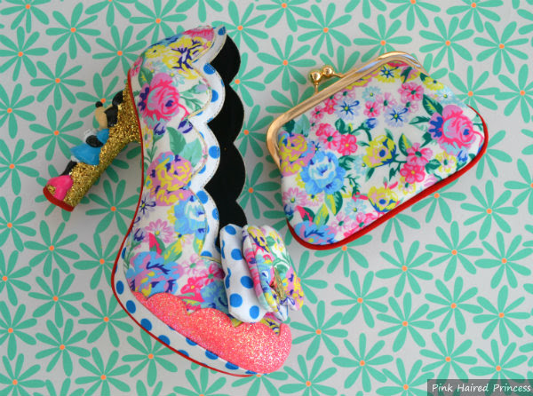irregular choice floral chip n dale purse matching sherbet ice cream shoe