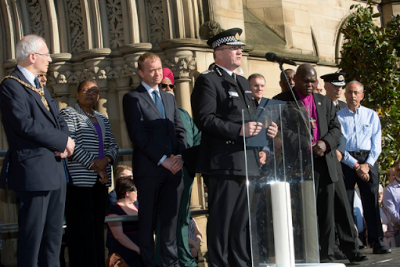 Photos from the vigil held in honour of those who died during the Manchester attack