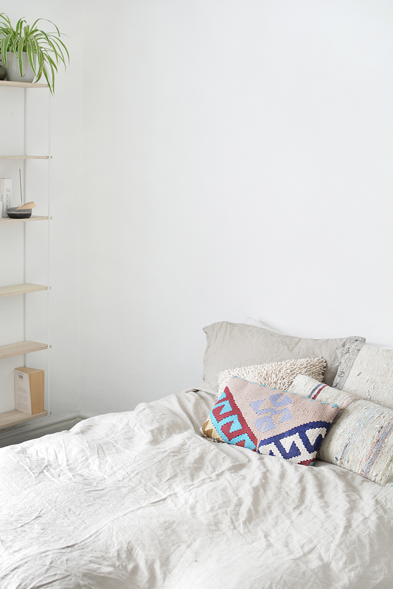 modern bedroom minimal scandi