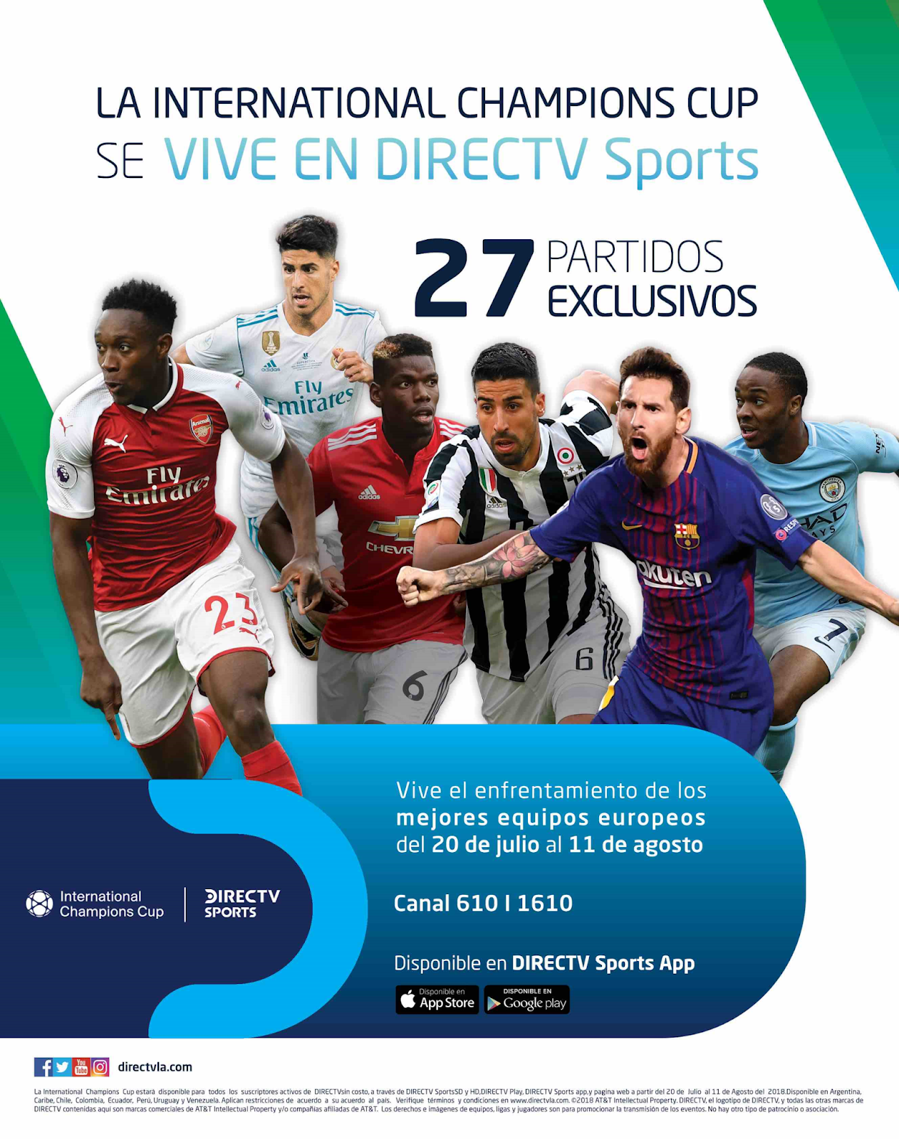 "DIRECTV SPORTS transmitirá la ""International Champions Cup"""