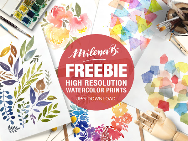 Download Florals Watercolor Prints Free
