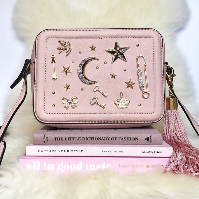 ALDO Pink YOISA BAG Prada Cahier Astrology Bag Dupe