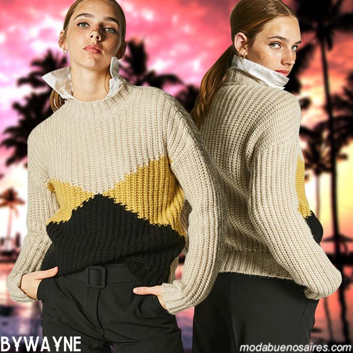 Sweaters de hilo invierno 2019 moda mujer.