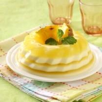 cara membuat puding susu lapis nanas