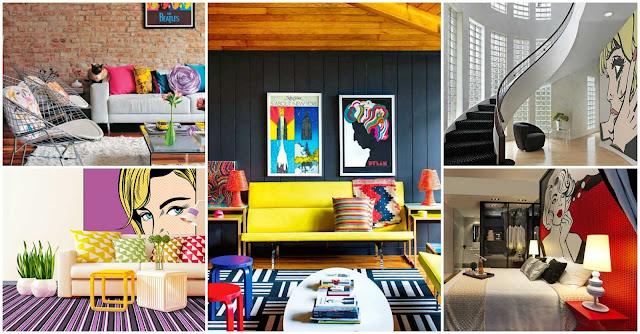 Desain Interior Rumah Gaya Pop Art