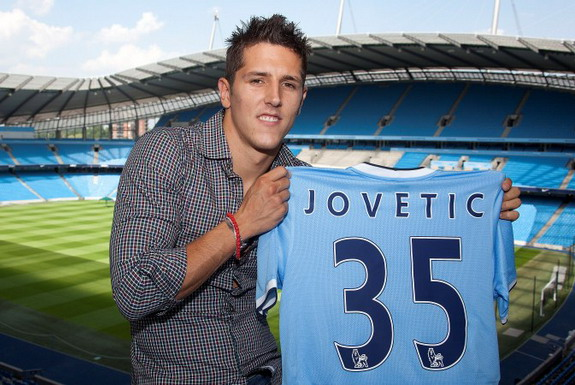 Stevan Jovetić has taken on the number 35 squad number for Manchester City