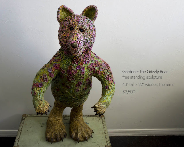 large freestanding bear sculpture