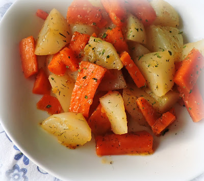Honey Dill Glazed Turnips & Carrots