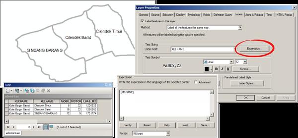 Tutorial label pada ArcGIS 10