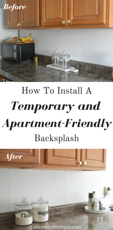 Sincerely, sweetpea: how to install a temporary and apartment ...