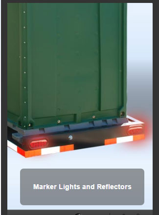 The Double Head Trailer Marker Lights and Reflectors