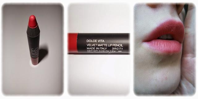 Swatch Velvet Matte Lip Pencil Crayon à Lèvres Velours Mat - NARS  - Teinte Dolce Vita